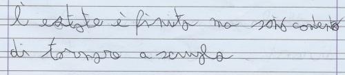 Scrittura bambino 8 anni